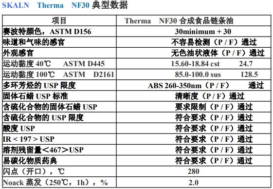 合成食品链条油 Therma NF30